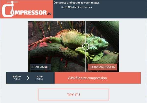Compressor.io tool - 5 Free Image and Photo Editing Tools for Non-Designers