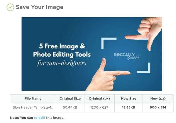 How to edit your image in Image Resize Tool