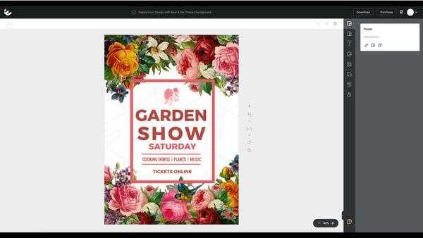 Garden Show Poster - Non-designer tutorial