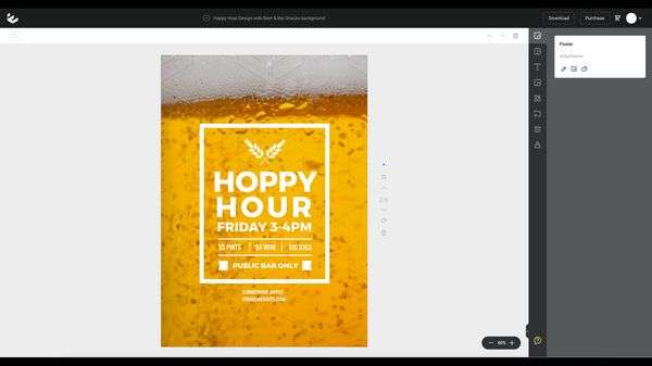 Hoppy Hour Design - base template for DIY Design Demo.