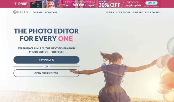 Pixlr X Photo Editor - 5 Free Image and Photo Editing Tools for Non-Designers