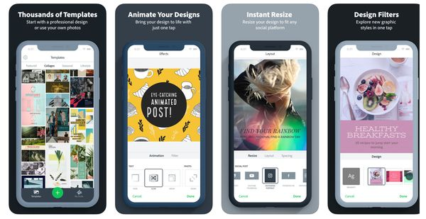 Adobe Spark Post App - 17 Apps for Creating Instagram Stories that Stand Out!