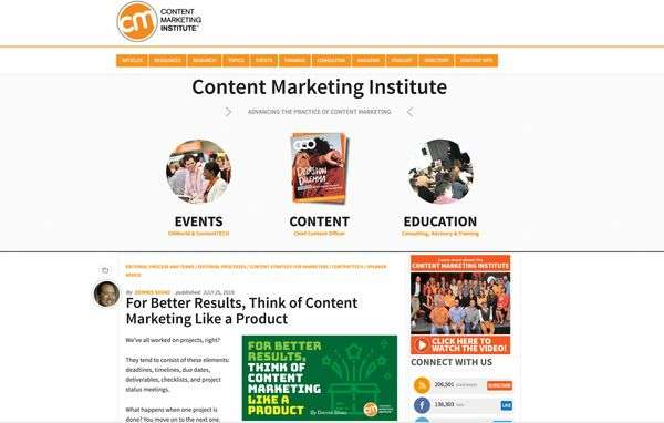 Content Marketing Institute - 13 Top Marketing Blogs You Don't Want to Miss