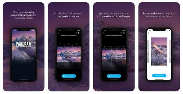 Panoram app - 17 Apps for Creating Instagram Stories that Stand Out!