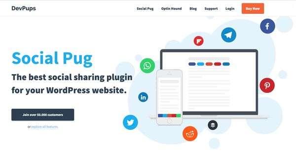 7 Best WordPress Plugins  - Social Pug