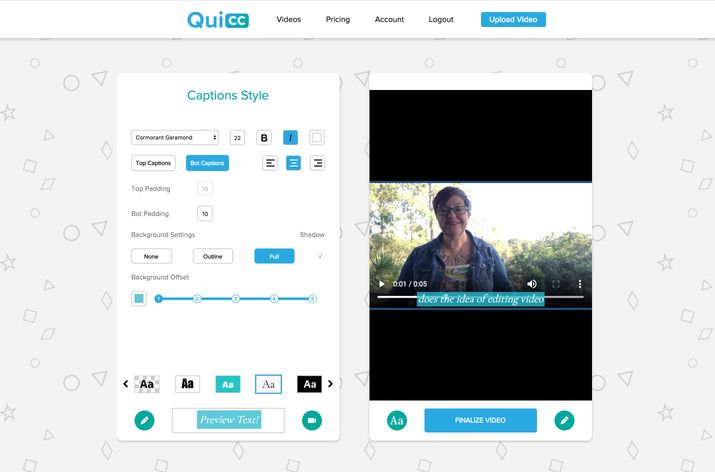 Quicc - Video Captions Made Easy - 3 Video Caption Tools