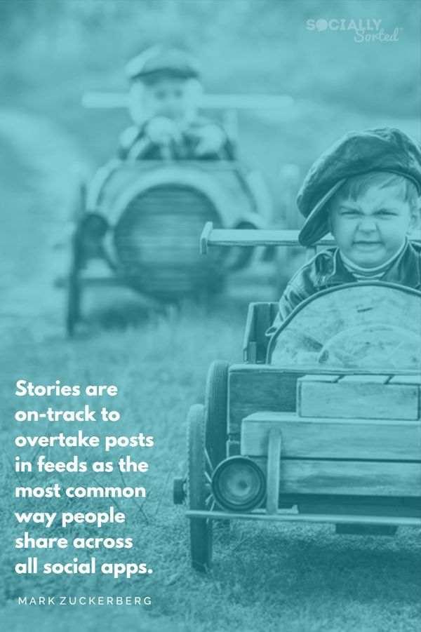 Mark Zuckerberg Quote about Instagram Stories