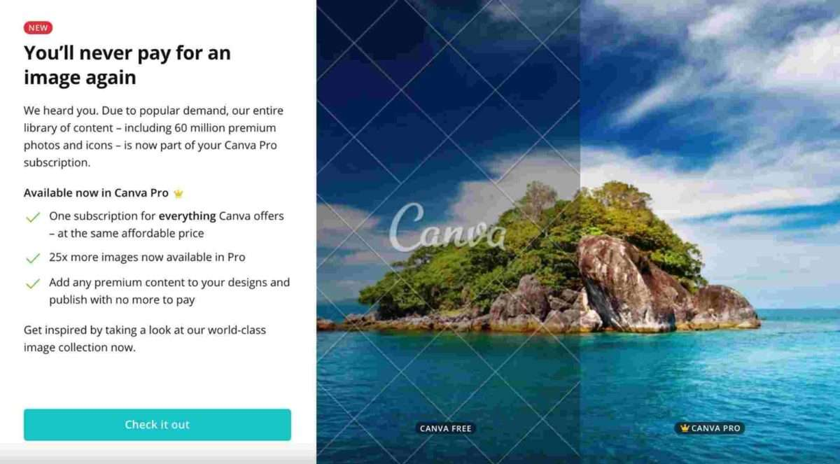 Canva Pro Unlimited Images to help you work remotely