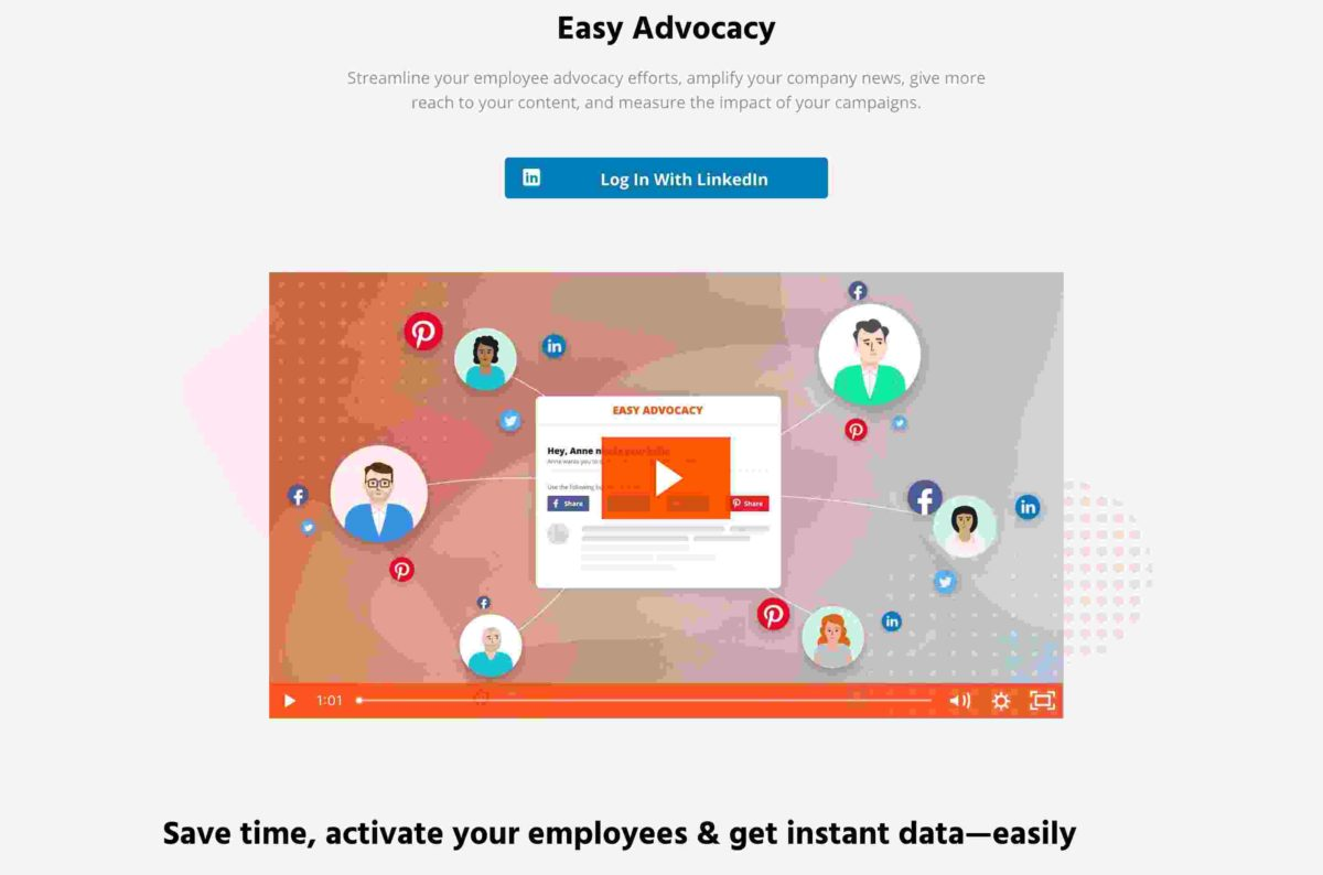 Easy Advocacy Tool - for teams that work remotely