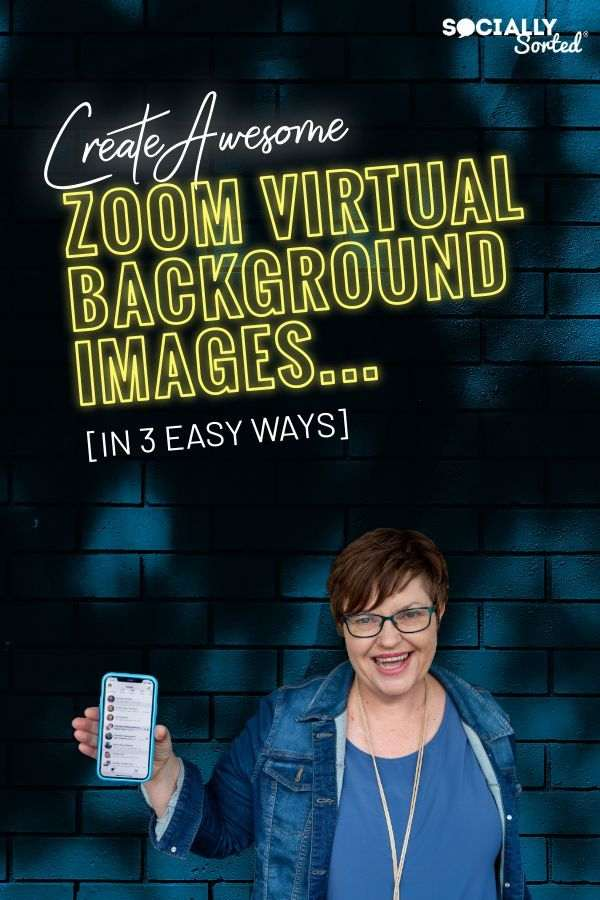 Create Awesome Virtual Zoom Background Images in 3 Easy Ways #Zoom #VirtualConference