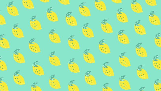 Lemon Virtual Zoom Background Images in Canva