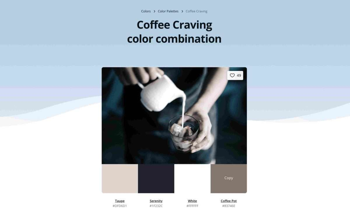 Canva's color ideas tool