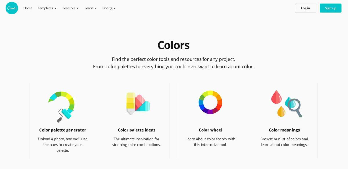 Canva's Color Tools - The Best Color Picker Tool, Color Palette Tools and More