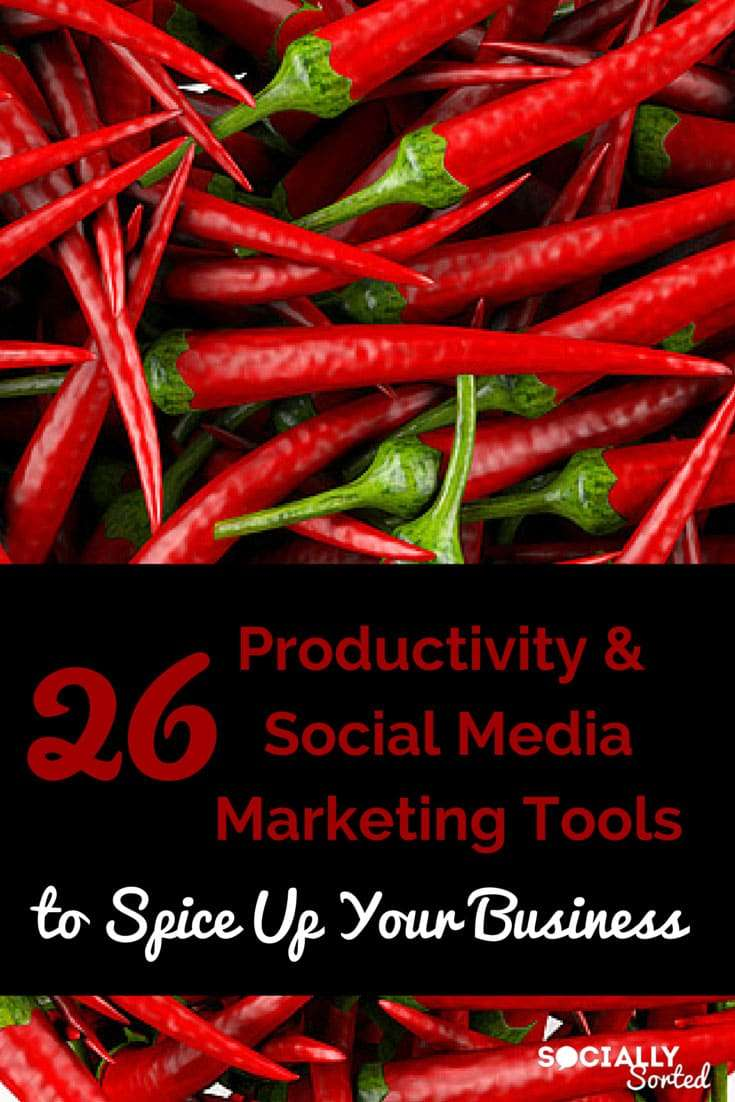 26 Productivity and Social Media Marketing Tools - Pinterest Image