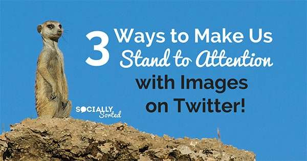 How to Use Images on Twitter to Make us Stand to Attention