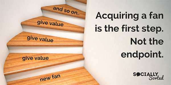 Acquiring a new fan is the first step, not the endpoint.
