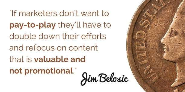 If marketers don't want to pay-to-play they'll have to double down their efforts... Click on the image to read more!