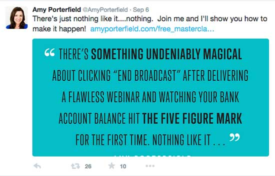 19 Pro Tips for a Packed House at Your Next Live Webinar or Event - Amy Porterfield's Tip