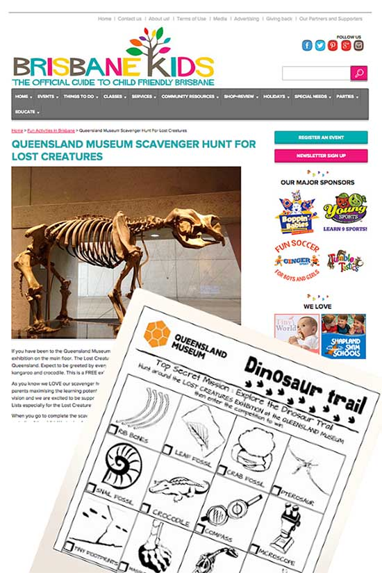 Brisbane Kids Printable Blog Image - Visual Content Strategy