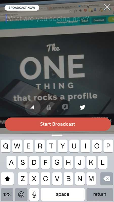 Broadcast Button, Periscope - 21 Periscope Tips for Winning Broadcasts