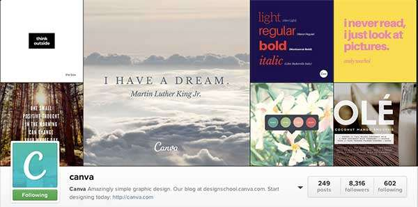 Canva on Instragram is a great place for Design Inpiration