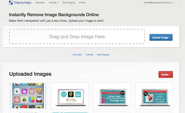 3 Visual Social Media Tools You Need as Your Wingmen - Clipping Magic Home Page