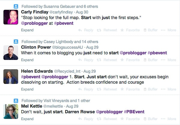 Darren Rowse Quotes Problogger Event 2014 (Just Start)