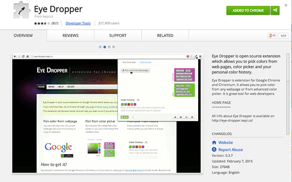 3 Visual Social Media Tools You Need as Your Wingmen - Google Chrome Eye Dropper Tool