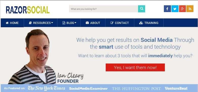 Ian Cleary Razor Social Website