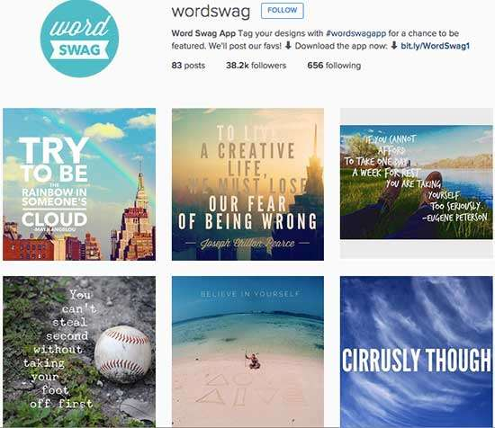 Wordswag on Instagram