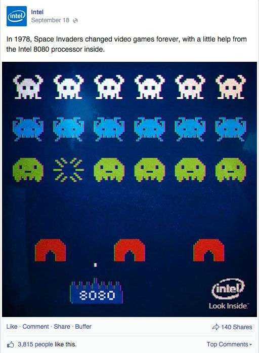 Intel Shows how to speak the language of fans with this post