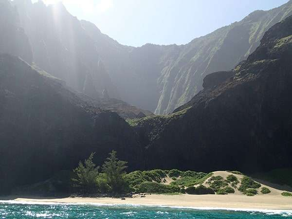 No, not Jurassic World, but Kauai, Hawaii. Where we met in the middle.