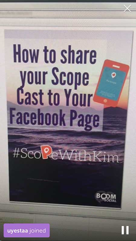 Kim-Garst-Screen-Saver - 21 Periscope Tips for Winning Broadcasts