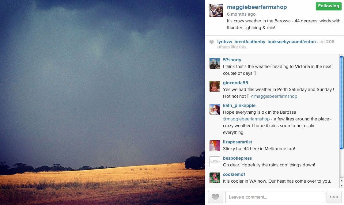 Post like a Fan not a Marketer - Instagram (Maggie Beer)