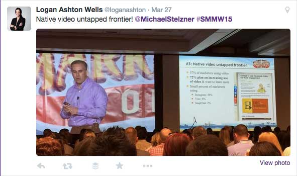 Video content is an untapped fronteir - Michael Stelzner opening keynote at Social Media Marketing World