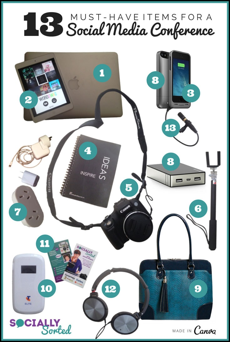 WIN THE LAPTOP BAG (#9) - Click this image for details. (13 Must-Have Items to Pack for a Social Media Conference)