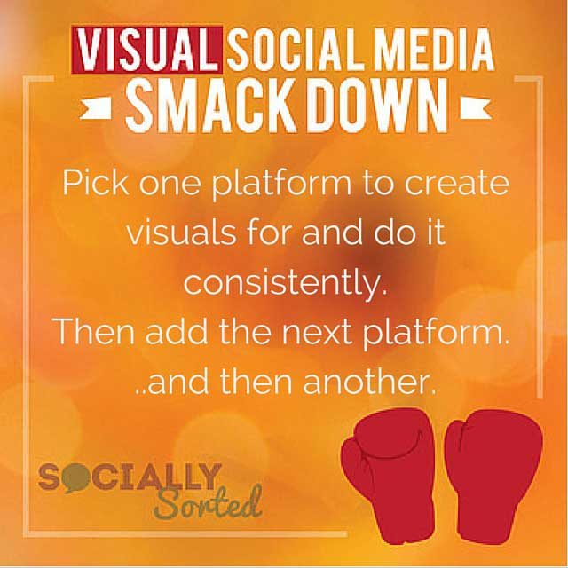 Take on one platform at a time with your visual content