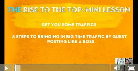 Rise to the top mini lesson traffic blog