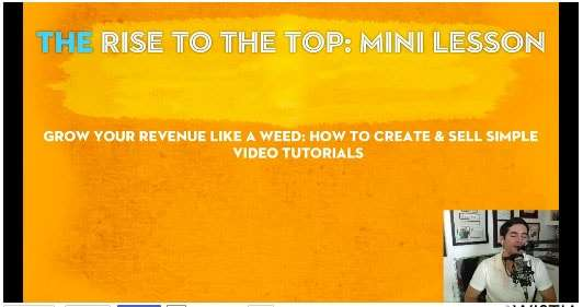 Rise to the top mini lesson create video tutorial