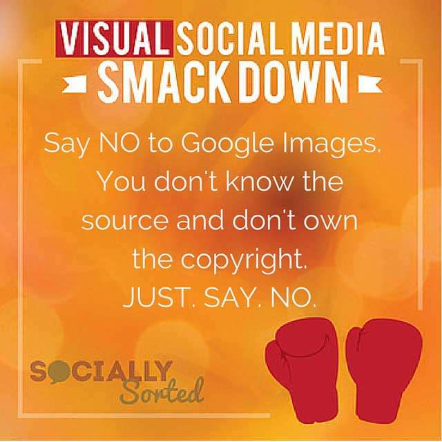 Don't use google images - say no to google images.