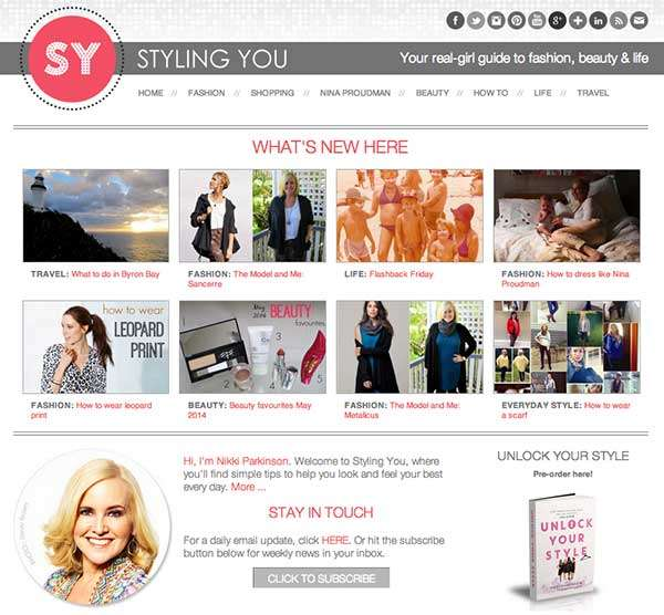 Styling You Homepage