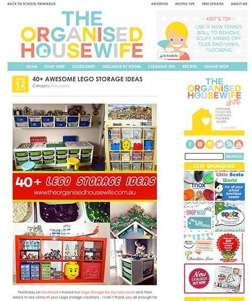 the Organised Housewife - 40+ Lego Storage Ideas