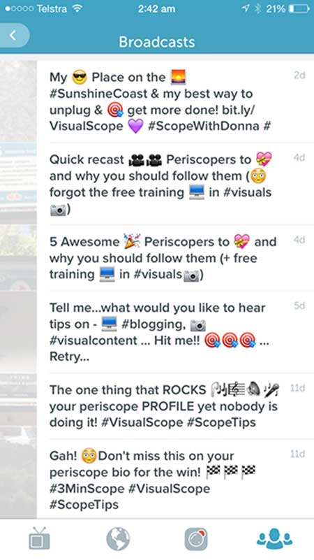 Title Examples on Periscope - 21 Quick Periscope Tips for Winning Broadcasts
