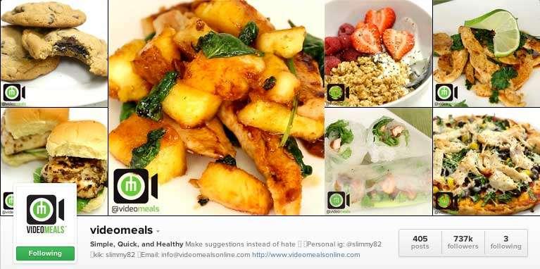Video Meals on Instagram