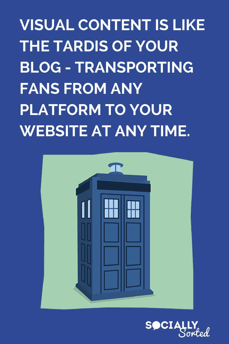 Think of Visual Content like the tardis of your blog